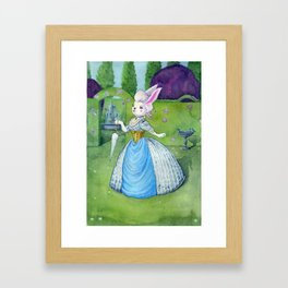 Lady Lucy in the Garden Framed Art Print