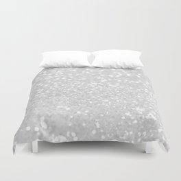 Chic elegant glamour white faux glitter Duvet Cover