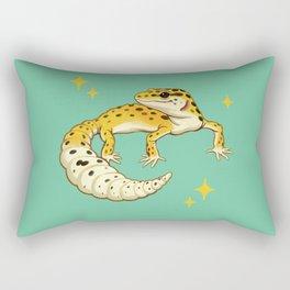 Sparkly Leopard Gecko Rectangular Pillow