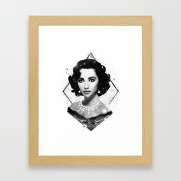 The Queen of Diamonds  |  Liz Taylor Framed Art Print