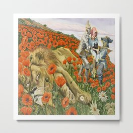 Poppies Wizard of Oz Metal Print
