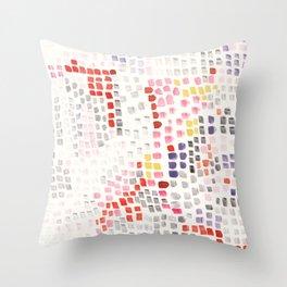 Abstract strokes Throw Pillow