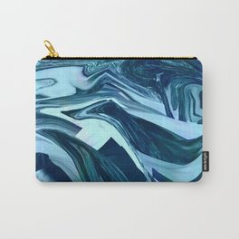 Turquoise + Teal Marble Carry-All Pouch