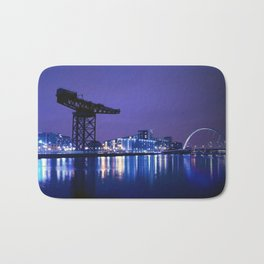 The River Clyde At Night Bath Mat