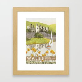 Wales Conwy Castle Framed Art Print