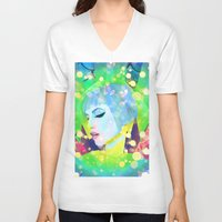 hayley williams V-neck T-shirts featuring Digital Painting - Hayley Williams - Variation 2 by EmmaNixon92