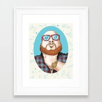 action bronson Framed Art Prints featuring Action Bronson by Timothy McAuliffe