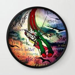 Love's Final Ovation Wall Clock