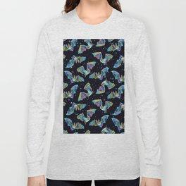 Pastel Party Bat Pattern Long Sleeve T-shirt