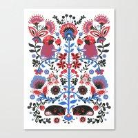 folk Canvas Prints featuring The Pug of Folk  by Huebucket