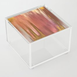 Blush with Gold Abstract Acrylic Box