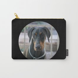 Doberman Dad Black Carry-All Pouch