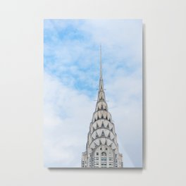 Iconic NYC Landmark Chrysler Building Architecture Metal Print