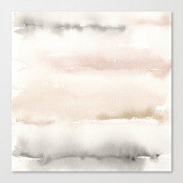 Origin Neutral Watercolor Wash Canvas Print