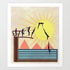 SUMMER POOL Art Print