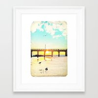 boardwalk empire Framed Art Prints featuring Boardwalk by Mina Teslaru