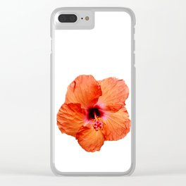Just the Hibiscus Clear iPhone Case