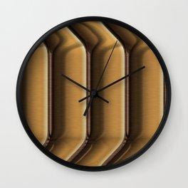Brown ribbed stripes Wall Clock