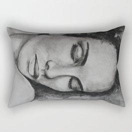 Art, drawing portrait of beautiful model Rectangular Pillow