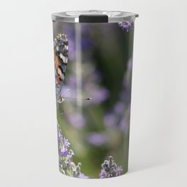 Buttefly On Lavender Travel Mug