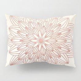 Mandala Blossom Rose Gold on Cream Pillow Sham