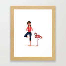 Yoga with nature Framed Art Print
