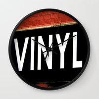 vinyl Wall Clocks featuring Vinyl by Biff Rendar