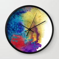 shield Wall Clocks featuring Shield by Jessalin Beutler