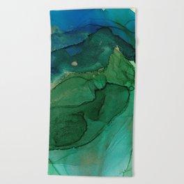 Ocean gold Beach Towel