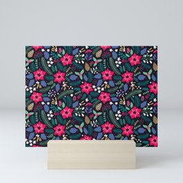 Seamless Floral Pattern Mini Art Print