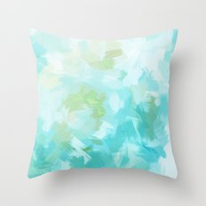 BLOSSOMS - CYAN Throw Pillow