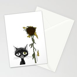Sad is one complicated emotion of a cat! Stationery Cards