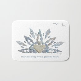 Start each day with a grateful heart Bath Mat