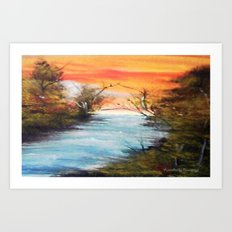 Lazy River Art Print