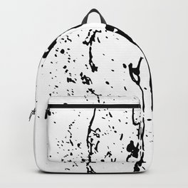 poured paint blots black and white Backpack