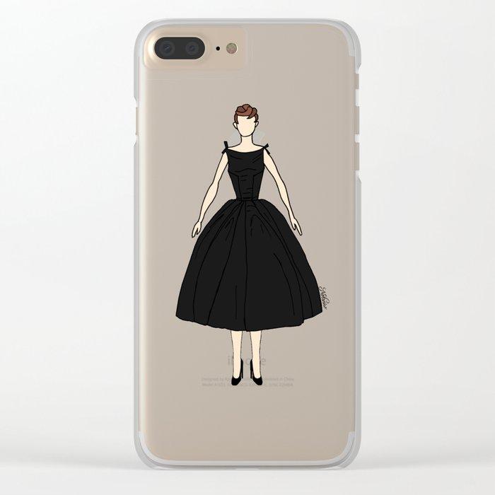 Audrey Hepburn Vintage Retro Fashion 1 Clear iPhone Case