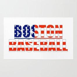 Baseball USA Blue and Red Rug