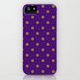 Astrological Purple Stars and Sun iPhone Case