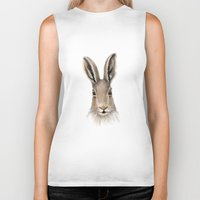 hare Biker Tanks featuring Hare by natlovesrooby