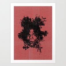 Basquiat botanical portrait Art Print