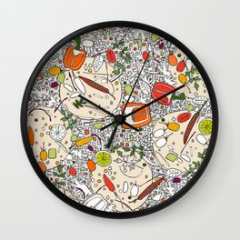 taco pop Wall Clock