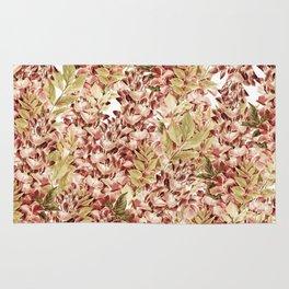 Vintage boho mauve pink dusty green floral Rug