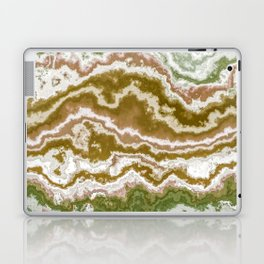Green and toasted sienna marbling texture Laptop & iPad Skin