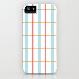 Modern gridlines iPhone Case