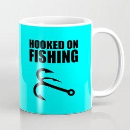 Hooked on fishing sports logo Coffee Mug
