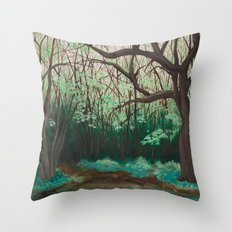The Path to the Pond Throw Pillow
