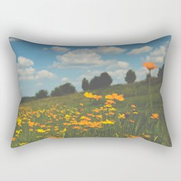 Dreaming in a Summer Field Rectangular Pillow