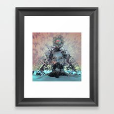 Cerulean Vibrations Framed Art Print