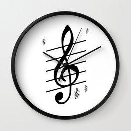 der Schlüssel zum Herz ist die Melodie   (A7 B0022) Wall Clock