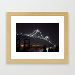 Newport Bridge RI Framed Art Print